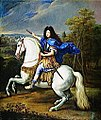 Equestrian painting of Philippe of France, Duke of Orléans (only brother of Louis XIV) by Pierre Mignard (Versailles).jpg