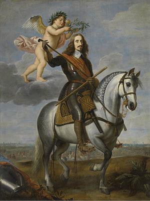 Jan van den Hoecke - Equestrian portrait of Archduke Leopold Wilhelm, Groeningemuseum