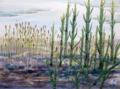 Erdgeschichte, Silur Landschaft, Aquarell.png