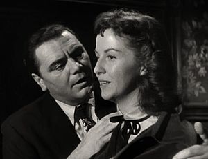 Betsy Blair - Blair with Ernest Borgnine in the trailer for Marty, 1955
