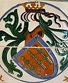 Escudo de los Cañaveral en un azulejo del castillo de Láchar.jpg