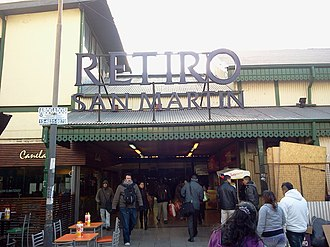 Retiro San Martín railway station - Image: Estacion Retiro Alternativa