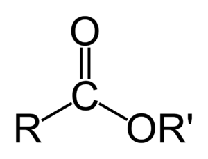General formula of a carboxylate ester