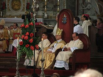Angelo Amato - Archbishop Amato at a beatification ceremony in the Esztergom Basilica