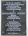Esztergom Mindszenty emléktábla Víziváros.jpg