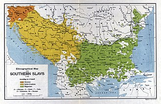 South Slavs - Ethnographic map of the Southern Slavs in 1913, According to J.Ivanoff