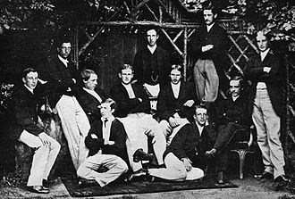 Edgar Lubbock - Eton College cricket XI of 1866. Lubbock is seated in the centre of the middle row