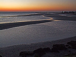 Evening in Grado lagoon