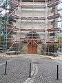 Exaltation of the Holy Cross Church, scaffolding, 2018 Nagymaros.jpg