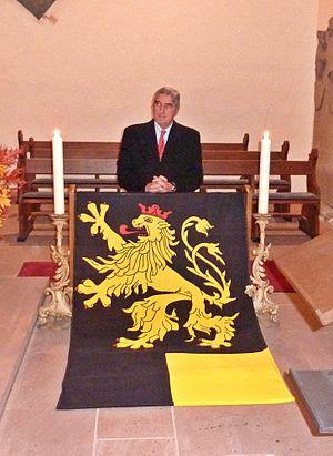 Alois-Konstantin, 9th Prince of Löwenstein-Wertheim-Rosenberg - Alois Konstantin Prince zu Löwenstein-Wertheim-Rosenberg as honour-guest during a catholic Tridentine Mass, celebrated for his ancestors, 2011, in Neustadt an der Weinstraße, Germany