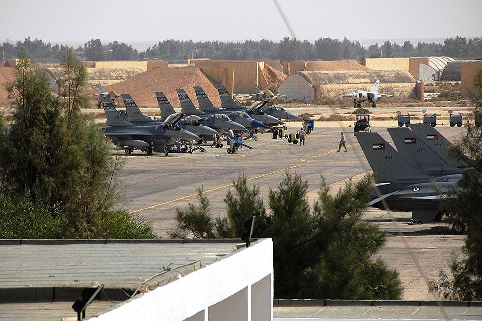 F-16 Fighting Falcons at Muwaffaq Salti Air Base