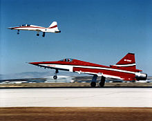 F-20 in Northrop colors takeoff.jpg