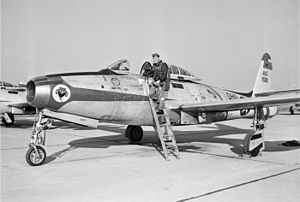 162d Reconnaissance Squadron - The 162nd FS flew the F-84E Thunderjet from 1955-1957