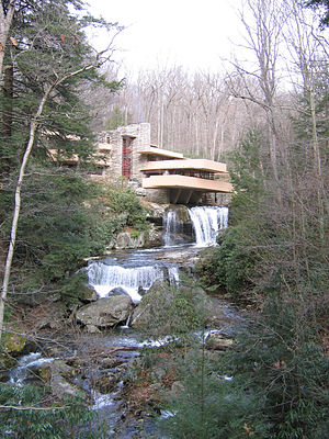 Bear Run beneath Frank Lloyd Wright's Fallingwater