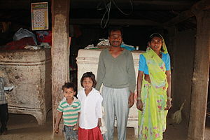 Family of a Korku tribal in Melghat, Maharashtra (1).jpg
