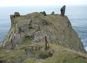 """The Bride of Lammermoor - The precipitous Fast Castle, identified with the """"Wolf's Crag"""""""