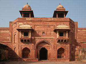 Zenana - Fortified entrance to the zenana at Fatehpur Sikri.