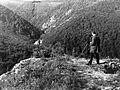 Fehér-kő, kilátás a Szinva völgyre. Fortepan 9283.jpg