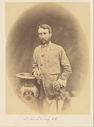 Garnet Wolseley, 1st Viscount Wolseley - Lieutenant-Colonel Wolseley in India, by Felice Beato, 1858–1859