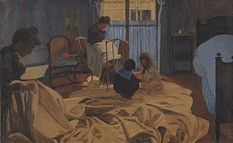 Félix Vallotton - The Laundress, Blue Room, 1900, Dallas Museum of Art