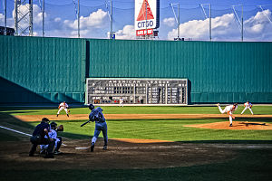 Green Monster - The Green Monster in 1996, seven seasons before seats were added on top.