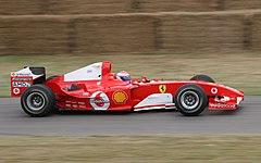 Gené sulla Ferrari F2004 a Goodwood nel 2006