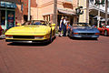 Ferrari Testarossa 1990 Yellow Beside Ferrari F355 1998 GTB HeadOns CECF 9April2011 (14620953943) (2).jpg