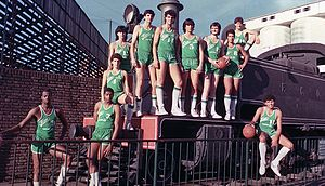 Liga Nacional de Básquet - Ferro C. Oeste, the first champion of the LNB.
