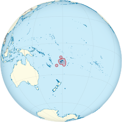 Fiji on the globe (small islands magnified) (Polynesia centered).svg