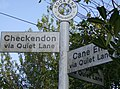Fingerpost at Hook End, in Checkendon, Oxfordshire, England.jpg