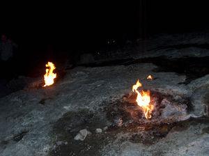 Mount Chimaera - The fires of Yanartaş at night.