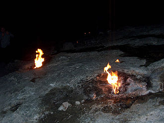 Bellerophon - The eternal fires of Chimera in Lycia (modern-day Turkey) where the Chimera myth takes place.