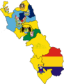 Flag map of provinces of Lima Region.png