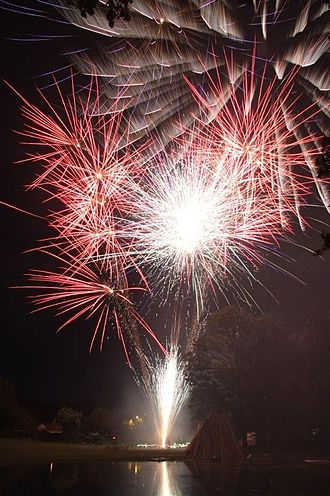 Verwood - Flameburst 2012 – main display across the lake