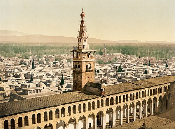 Umayyad Mosque, a place where Ibn Taimiyya used to give lessons.[31]