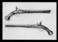 Flintlåspistol, Elias Kriebel, Reval, 1700-talets början - Livrustkammaren - 35144.tif