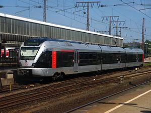 Ruhr-Sieg-Express - A FLIRT set of Abellio in Essen Hbf, here running as RB 40: Ruhr-Lenne-Bahn