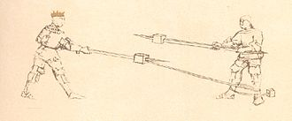 Flos Duellatorum - final image of the Pisani facsimile (polearms, fol. 36A)