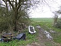 Fly-tip near Kempsford - geograph.org.uk - 350367.jpg