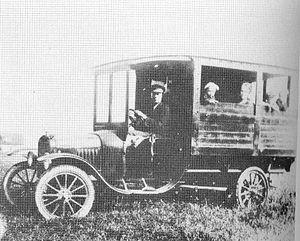 Ford Model TT - Ford TT used as a bus in Skanör, Sweden in 1920