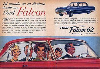 Ford Falcon (Argentina) - 1962 Falcon ad