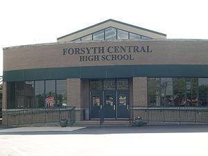 Forsyth Central High School - Image: Forsyth Central High School Main Entrance