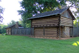 Fort Watauga - The reconstructed Fort Watauga at Sycamore Shoals State Historic Park.