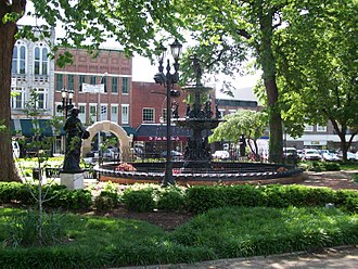Bowling Green, Kentucky - Shops along Fountain Square in downtown Bowling Green