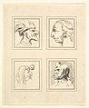 Four Heads (from Characaturas by Leonardo da Vinci, from Drawings by Wincelslaus Hollar, out of the Portland Museum) MET DP824105.jpg