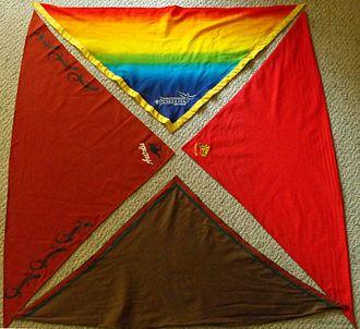 Neckerchief - Image: Four scout scarves