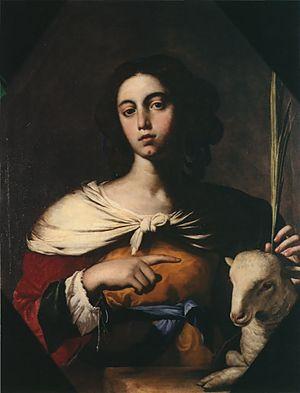 Agnes of Rome - Santa Inés, Guarino, 1650.
