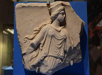 Greeks in pre-Roman Crimea - Fragment of a marble relief depicting a Kore, 3rd century BC, from Panticapaeum, Taurica (Crimea), Bosporan Kingdom