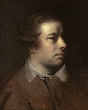 Marriage à-la-mode: 2. The Tête à Tête - Portrait of Francis Hayman by Sir Joshua Reynolds.