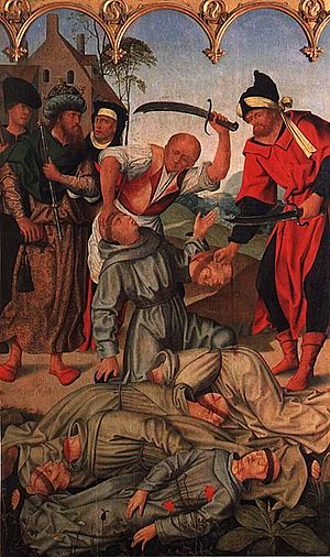 Francisco Henriques - Martyrs of Morocco (1508) by Francisco Henriques, from the Church of St Francis in Évora, now in the National Museum of Ancient Art, in Lisbon.